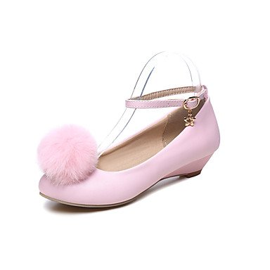 LvYuan Da donna Sandali Finta pelle Primavera Estate Piatto Bianco Nero Rosa Piatto blushing pink
