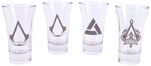 Assassins Creed Shotglasses Set bestehend aus 4 Gläsern