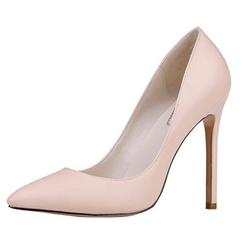 Schuhe Stockelschuhe matt Kleid Spitzschuh Damenschuhe Herz Eks Pumpen Nude Eleven Farbe wUq0cFSI