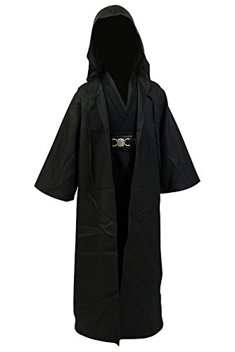 Star Wars Anakin Skywalker Kostüm Cosplay Kinder Anzug Uniform Schwarz (Anakin Kinder Kostüme Skywalker)