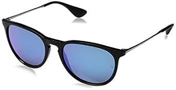 Ray-Ban Erika Wayfarer Sunglasses, Black (601/55), 54 mm
