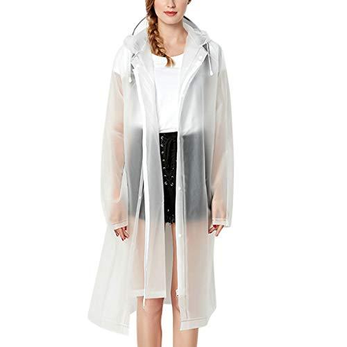 kolila Damen Regenmantel Reißverschluss Schlanke Taille Outdoor Wasserdicht Winddicht Windbreaker Regen Poncho Kapuzenjacke Mantel