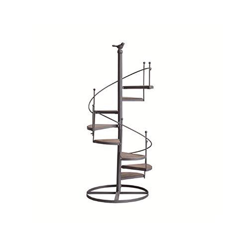 SGSG Treppe Blumenregal Europäische Schmiedeeisen für Balkon Wohnzimmer Mehrschichtige Vogel Treppe Eckregal - Schränke, Regale & Regale,Drehen -