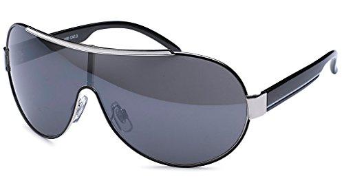 UVprotect leichte Damen oversize Monoglas sportlicher fashion Style Sonnenbrille grau W71-1