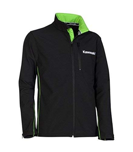 Kawasaki Sports Softshell Jacke schwarz Size 3XL/4XL (Kawasaki-jacken)