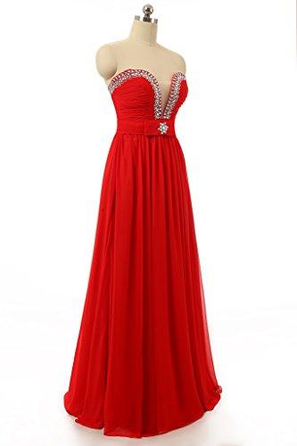 Baijinbai - Robe - Trapèze - Femme red