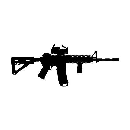 KGTHSS AR-15 Gewehr schießen Vinyl Wall Sticker Dekor Lichtschalter Aufkleber 5 WS 0257 -