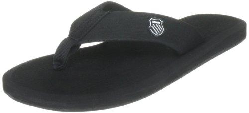 K-Swiss KS Plush Sandal~Black col. M, Infradito Uomo, (Bianco 001), 39.5 EU