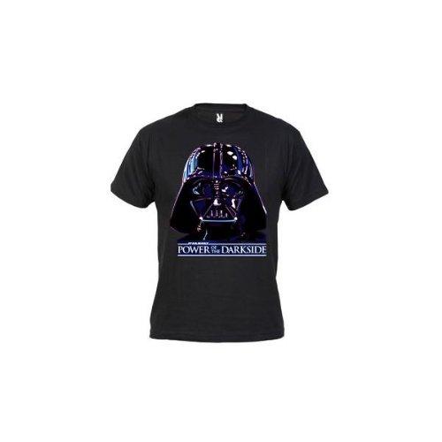 Camiseta Darth Vader (Lado Oscuro) (Talla: Talla L Unisex Ancho/Largo [56cm/74cm] Aprox], Color: Negro)