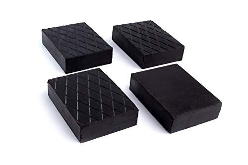 Kora 79 Satz 4 Stück Gummiblöcke 160x120x60mm, schwarz, Set of 4