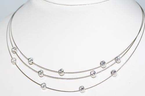 Le Bijou exkl.Collier Edelstahldrähte + Swarovski Kristalle 40 cm
