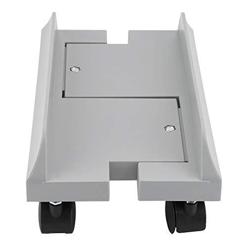 Supporto per monitor regolabile removibile mensola supporto per stand staffa desktop mainframe storage rack carrello porta pc portacase con freno (grey)