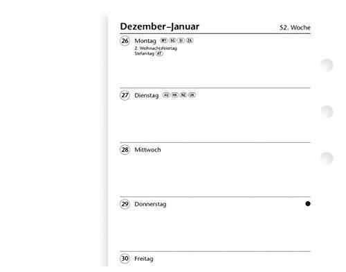 Filofax 000018-68444 Kalender, Personal 1 Woche auf 1 Seite (D)2018