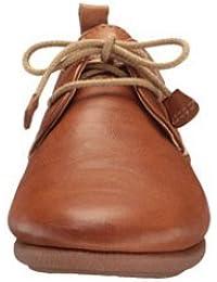 Pikolinos de mujer, zapato sport de cordones en piel,w9k-4623 brandy.