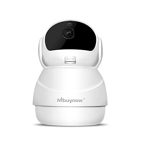 Cámara IP WiFi, Mbuynow Cámara de Vigilancia con Visión Nocturna, Audio de 2 Vías, 360 Rotación Automática ,Detector de Movimiento Pan/Tilt, Grabador de Vídeo y Audio, Alarma por Correo Electrónico Compatible con iOS/Android/PC