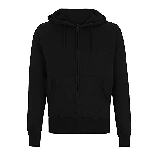 Continental - Men's Zip-Through Hooded Sweatjacke / Black, L - Continental Zip