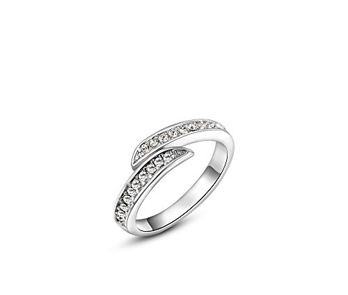 Silver Shoppee 'Striking' High Quality Genuine Austrian Crystal Sterling Silver Ring For Girls and Women