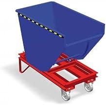 Bartels 115.509.130 RAL5010 - Camión con rueda de palanca, 100 h, 1000 l, 2000 kg, color azul