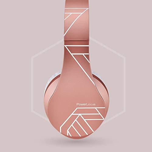 PowerLocus Bluetooth Over-Ear Kopfhörer, Kabellos Stereo Faltbare Kopfhörer Kabellose und Kabel-Kopfhörer mit Integriertem Mikrofon, Micro SD/TF, FM für Handys/iPad/Laptops & PC (Rose Gold) - 9