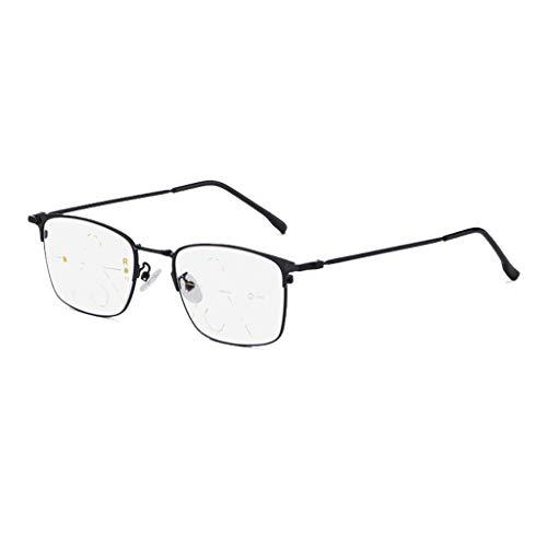 Axclg Reading glasses Multi-Fokus-Lupe Lesebrille, Nicht verschreibungspflichtiges Federscharnier Fern und Nah Sonnenbrille mit doppeltem Verwendungszweck, Strahlenschutz/UV-Schutz - für Herren/Damen