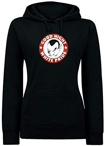 Loikaemie - Good Night White Pride Girl Hoodie, schwarz, Grösse XS -