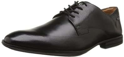 Clarks Derry Walk GTX 203584377, Herren Schnürhalbschuhe, Schwarz (Black Leather), EU 40