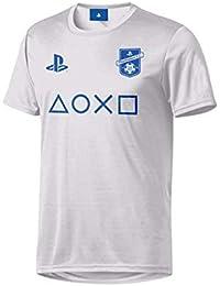 Sony Playstation - Símbolos Esports (Blanco) - Hombre Oficial Camiseta de Fútbol