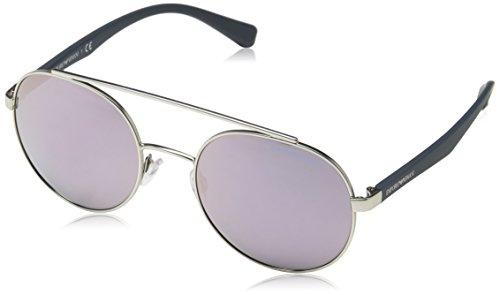 Emporio Armani 2051, Gafas de Sol Unisex Adulto, Matte Silver 30155R, 53
