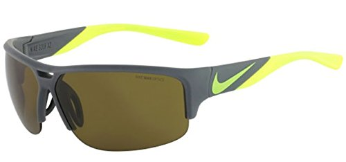 Nike EV0870-070 Golf X2 Sunglasses (One Size), Matte Bomber Grey/Volt, Max Outdoor Lens image