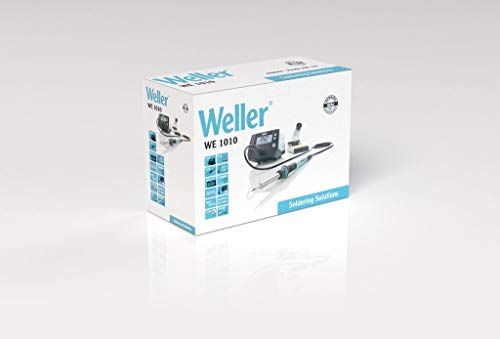 Weller Professional T0053298699 Weller We 1010 (T0053298399) 70 W/230 V Digital 1-Kanal-Lötstation, Temperaturbereich 100°C – 450°C, Blau