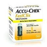 Fastclix Lanzetten für Blutzuckermessgeräte 102 Stk