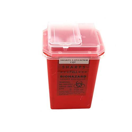 1 Stück Tattoo-Kunststoff-Dose, Biogefahr-Nadelentsorgung, 1 L Größe Abfallbox für Tätowierungskünstler