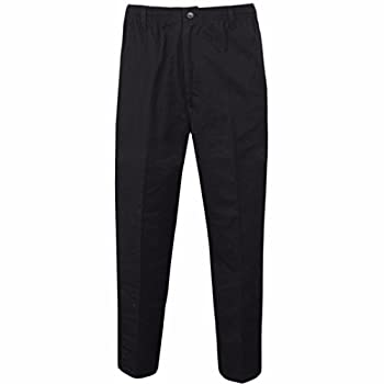 Myshoestore Mens Smart Rugby Trousers Fully Elasticated Stretch Waist Band With Draw Cord Comfortable Fit Workwear Bottoms Straight Leg Casual Formal Work Pants Size 30-48 1