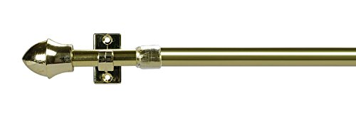 Vitragestange, ausziehbare Scheibengardinenstange Farbe Messing - 55 - 225 cm - Scheibenstange (55 - 85 cm)