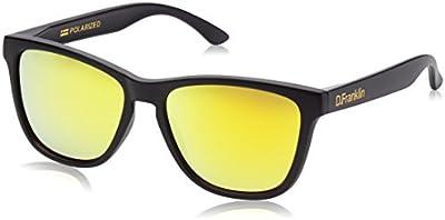 D.Franklin ROOSEVELT BLACK MATTE / GOLD - gafas de sol, unisex, color dorado, talla UNI