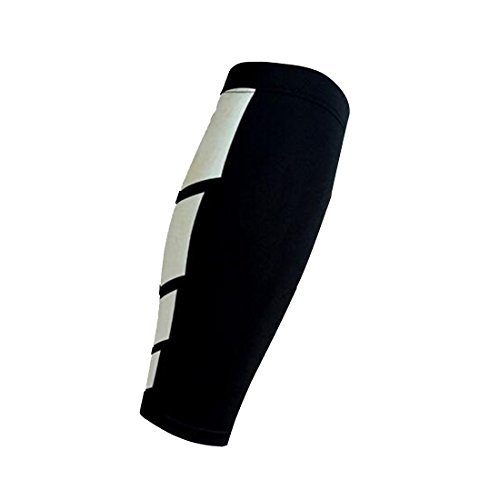 Neoprene Brace Calf Shin Support Wrap Shin Sleeve Running Bandage Guard Leg 1pcs-Black M Test