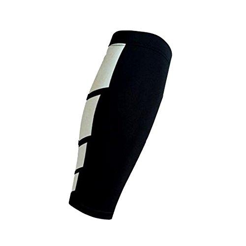 Luwu-Store Neopren-Klammer-Kalb-Shin-Stützverpackungs-Shin Sleeve Lauf Bandage Schutz Bein 1pcs-Schwarz XL