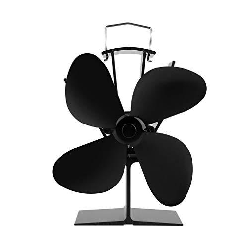 Tatayang Kaminventilator ohne strom Ofenventilator thermoelektrisch, Doppelter Hitze angetriebener Ofen Fans Doppel Hitze Kamin-Ventilator für Holz/LOG Brenner (Ohne Temperaturanzeige)