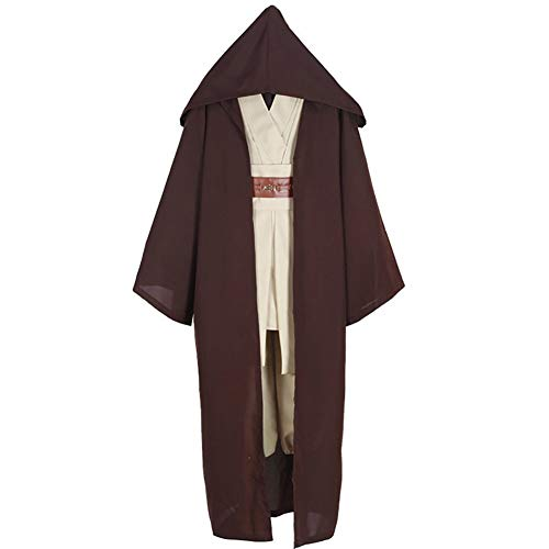 Yeming5704 Obi-Wan Kenobi Jedi Umhang Braun Cosplay kostüm Anzug Halloween Karneval Party ()