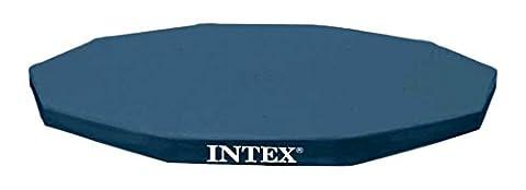Intex Bâche de protection pour Tubulaire ronde Bleu 366 x 366 x 25 cm 28031
