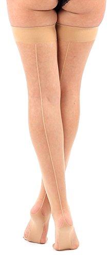 Krautwear Damen Strumpfhose Offen Netzstrümpfe Halterlose Netz Straps Strümpfe Elegant Sexy Netzstrumpfhose Hoher Bund Schwarz Rot Weiss Neon Pink Grün Kostüm Fasching Karneval 80er (Kostüme Grüne Haut)