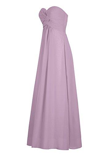Dresstells Damen Abendkleider Bodenlang Homecoming Kleider Promi-Kleider Weiß
