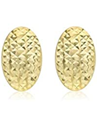 Carissima Gold Women's 9 ct Yellow Gold Diamond Cut Curved Stud Earrings