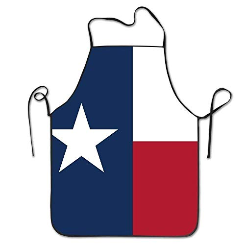 KENETOINA Unisex Kitchen Aprons Texas State Flag Chef Apron Cooking Apron Barbecue Aprons -