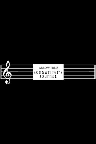 Songwriter's Journal: Lyric and Songwriting Notebook for Musicians Students and Music Lovers Black Staff (Solo Teen Black)
