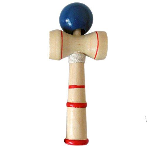 TianranRT Geschicklichkeit Ball Jade Kugel Kid-Kendama-Ball-Japanisch-Traditionelles-Holz-Spiel-Balance-Geschicklichkeitsspielzeug DB (Dunkelblau)