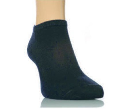 Price comparison product image 6 pairs of Mens Trainer Socks/Liners Black 6/11