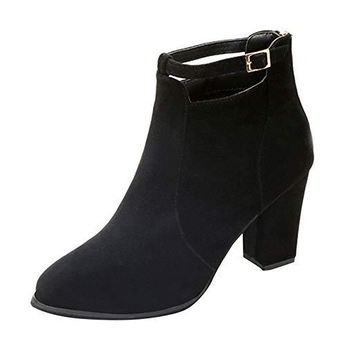 Riou Damen Absätzen Scrub Stiefeletten Reißverschluss Elegant Rutschfeste Kurze Ankle Arbeits Schuhe …