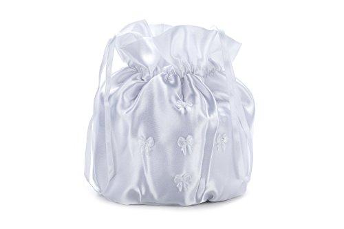 Frühlings-SALE! Brauttasche Abendtasche festliche Tasche Weiß/Glanz