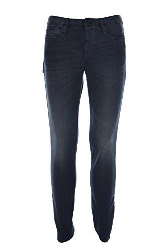 Emporio armani uomo jeans attillati j11 52 regolari blu denim